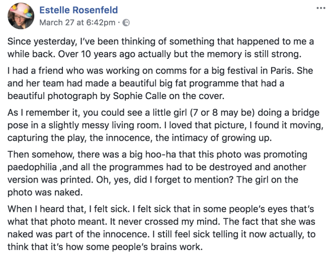 Rosenfeld on naked child photo