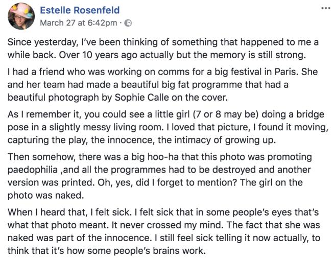 Rosenfeld on naked child photo
